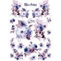 """Stamperia DFSA4217 Бумага рисовая мини-формат  """"Голубые розы"""""""