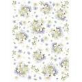 """Stamperia DFSA4231 Бумага рисовая мини-формат  """"Букетики в лиловых тонах"""""""