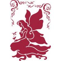 Stamperia KSG146 Трафареты сидящая фея