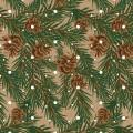 Stilerra WAP-03/15 Упаковочная бумага-крафт, цвет: 15 Еловые веточки