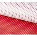 Stilerra WPD-02/17 Двухсторонняя упаковочная бумага глянцевая, цвет 17 горошек/белый, красный