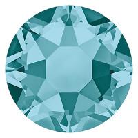 Сваровски 2078 Стразы клеевые Swarovski 2078 SS16 цветн. 3.9 мм кристалл 1 шт св.изумруд (blue zircon 229)