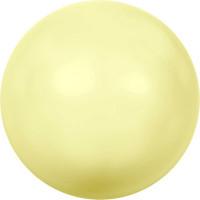 """Сваровски 5810 Бусина стеклянная """"Сваровски"""" 5810 10 мм 5 шт в пакете под жемчуг кристалл нежно-желтый (yellow 945)"""