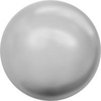 """Сваровски 5810 Бусина стеклянная """"Сваровски"""" 5810 10 мм 5 шт в пакете под жемчуг кристалл св.серый (lt.grey 616)"""