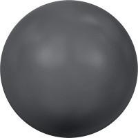 """Сваровски 5810 Бусина стеклянная """"Сваровски"""" 5810 10 мм 5 шт в пакете под жемчуг кристалл т.серый (d.grey 617)"""
