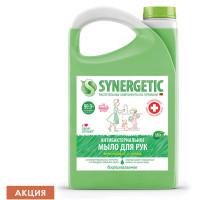 "SYNERGETIC 105201 Мыло жидкое антибактериальное 3,5 л SYNERGETIC ""Лемонграсс и мята"", антизапах, 105201"