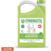 "SYNERGETIC 105202 Мыло жидкое антибактериальное 3,5 л SYNERGETIC ""Имбирь и бергамот"", 105202"