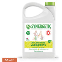 "SYNERGETIC 105203 Мыло жидкое антибактериальное 3,5 л SYNERGETIC ""Мелисса и ромашка"", 105203"