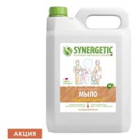 """SYNERGETIC 105506 Мыло жидкое 5 л SYNERGETIC """"Миндальное молочко"""", гипоаллергенное, биоразлагаемое, 105506"""