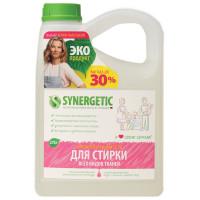 SYNERGETIC 109275 Средство для стирки жидкое автомат 2,75 л SYNERGETIC, для всех видов тканей, гипоаллергенное, ЭКО, 109275