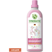 "SYNERGETIC 110100 Кондиционер-ополаскиватель для белья 1 л SYNERGETIC ""Аромамагия"", гипоаллергенный, концентрат, 110100"