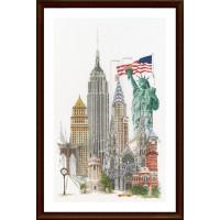 """Thea Gouverneur 00000033043 Набор для вышивания """"Thea Gouverneur"""" 0471 New York/Нью-Йорк"""