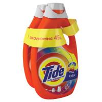 """TIDE 8001841053905 Средство для стирки жидкое автомат 2,47 + 2,47 л TIDE (Тайд) """"Color"""", гель, концентрат, 8001841053905"""