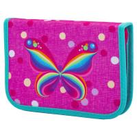 "TIGER FAMILY TGNQ-008C1E Пенал TIGER FAMILY 1 отделение, 1 откидная планка, ткань, ""Rainbow Butterfly"", 20х14х4 см, 228885, TGNQ-008C1E"