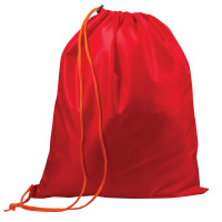 ТОП-СПИН 226552 Сумка для обуви ТОП-СПИН для учеников начальной школы, 1 шнур с пластиковым фиксатором, красная, 43х35 см, 226552