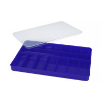 """Тривол №1 """"Тривол"""" Коробка для мелочей пластик №1 т. синий"""