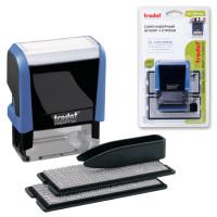 TRODAT 4912/DB Штамп самонаборный 4-строчный, размер оттиска 47х18 мм, синий без рамки, TRODAT 4912P4/DB, КАССЫ В КОМПЛЕКТЕ, 4912/DB