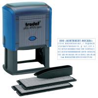 TRODAT 4928/DB Штамп самонаборный 7-строчный, размер оттиска 60х33 мм, синий без рамки, TRODAT 4928/DB, КАССЫ В КОМПЛЕКТЕ