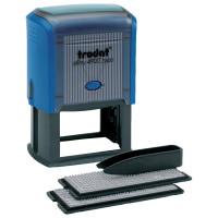 TRODAT 4957 Штамп самонаборный, 8-строчный, размер оттиска 60х40 мм, синий без рамки, TRODAT 4927/DB, КАССЫ В КОМПЛЕКТЕ, 4957