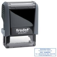 TRODAT 52869 Оснастка для штампа, размер оттиска 38х14 мм, синий, TRODAT 4911 P4, подушка в комплекте, 52869