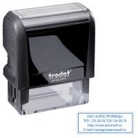 TRODAT 52877 Оснастка для штампа, размер оттиска 47х18 мм, синий, TRODAT 4912 P4, подушка в комплекте, 52877
