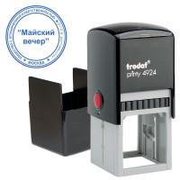 TRODAT 52899 Оснастка для печати (D=40 мм) и штампа (40х40 мм), синий, TRODAT 4924, крышка, подушка в комплекте, 52899