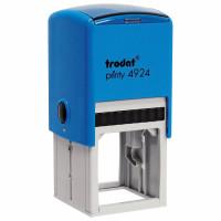 TRODAT 52902 Оснастка для печати (D=40 мм) и штампа (40х40 мм), синий, TRODAT 4924, крышка, подушка в комплекте, 52902