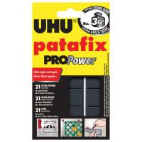 UHU 40790 Подушечки клеящие UHU Patafix ProPower, 21 шт., сверхпрочные (до 3 кг), многоразовые, черные, 40790