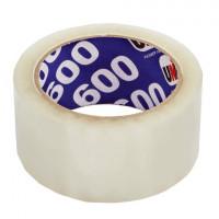 UNIBOB 29341 Клейкая лента упаковочная, 48 мм х 66 м, прозрачная, толщина 45 микрон, UNIBOB 600, 29341