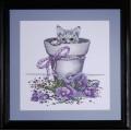 Vervaco 2545 2545 Комплект для вышивания (счетный крест) Flowerpot kitty (Котёнок в цветочном горшке)