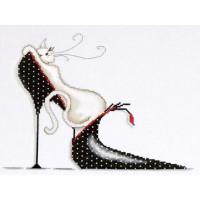 Design Works 2552 Polka Dot Shoe Kitty (Кошечка на туфельке в горошек)