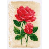 Vervaco 2720-70212 Красные розы, VERVACO 2720/70212 Красные розы, 29*41 см