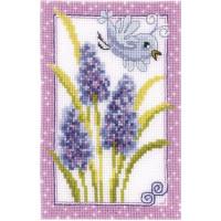 Vervaco 61 Наборы для вышивания VERVACO, 8х12 см  Синяя птичка и цветы