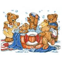 Design Works 9856 Bath Bears (Купание мишек)