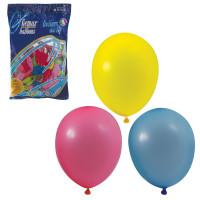 """ВЕСЕЛАЯ ЗАТЕЯ 1101-0003 Шары воздушные 10"""" (25 см), комплект 100 шт., 12 пастельных цветов, в пакете, 1101-0003"""