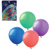 """ВЕСЕЛАЯ ЗАТЕЯ 1101-0006 Шары воздушные 12"""" (30 см), комплект 100 шт., 12 пастельных цветов, в пакете, 1101-0006"""