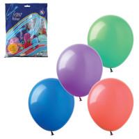 """ВЕСЕЛАЯ ЗАТЕЯ 1101-0010 Шары воздушные 14"""" (36 см), комплект 100 шт., 12 пастельных цветов, в пакете, 1101-0010"""