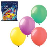 """ВЕСЕЛАЯ ЗАТЕЯ 1101-0022 Шары воздушные 7"""" (18 см), комплект 100 шт., 12 пастельных цветов, в пакете, 1101-0022"""