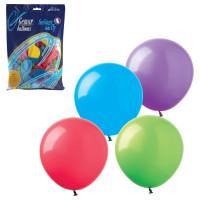 """ВЕСЕЛАЯ ЗАТЕЯ 1101-0023 Шары воздушные 9"""" (23 см), комплект 100 шт., 12 пастельных цветов, в пакете, 1101-0023"""
