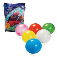 """ВЕСЕЛАЯ ЗАТЕЯ 1104-0005 Шары воздушные 16"""" (41 см), комплект 25 шт., панч-болл (шар-игрушка с резинкой), 12 неоновых цветов, пакет, 1104-0005"""