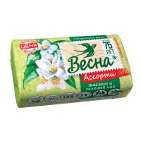 """ВЕСНА 6084 Мыло туалетное 90 г ВЕСНА """"Жасмин и зелёный чай"""", ГОСТ, 6084"""
