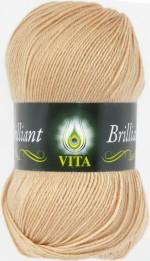 Пряжа для вязания Vita Brilliant (Вита Бриллиант) Цвет 5108 топленое молоко