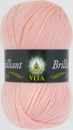 Пряжа для вязания Vita Brilliant (Вита Бриллиант) Цвет 5109 нежно-розовый
