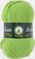 Пряжа для вязания Vita Brilliant (Вита Бриллиант) Цвет 5110 свежая зелень