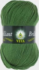 Пряжа для вязания Vita Brilliant (Вита Бриллиант) Цвет 5111 зеленый