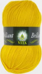 Пряжа для вязания Vita Brilliant (Вита Бриллиант) Цвет 5112 желтый
