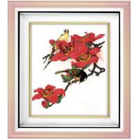 Вышиваем бисером В-17 Птицы в цветах