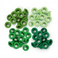 We R Memory Keepers 41576-3 Набор люверсов, цвет - зеленый (стандарт)