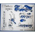 "WoodBox ЧП-081 Чип-борд картонный ""Новогодние надписи"""
