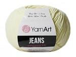 Пряжа YarnArt Jeans (Ярнарт Джинс) Цвет 86 молочный